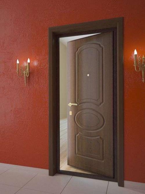 металлические двери варианты отделки пленка