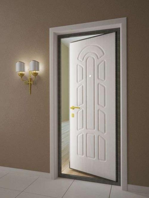 металлические двери внутренняя отделка белая