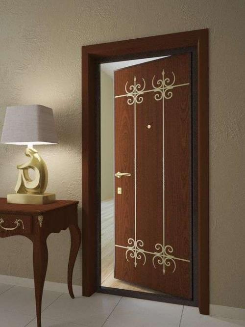 дешевые красивые входные двери с зеркалом внутри