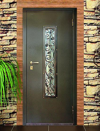 входная дверь металл стекло